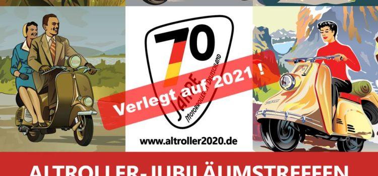 Altroller-Jubiläumstreffen auf Pfingsten 2021 verschoben